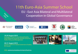 11th Euro-Asia Summer School