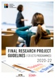 Final Research Project guidelines 2019-20 - 120 ECTS programmes