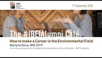 17 September 2020 | How to make a Career in the Environmental Field - Mariona Oliva (MIR 2019)