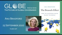 GLOBE Webinar: Anu Bradford - The Brussels Effect: How the European Union Rules the World