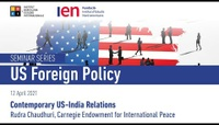 Contemporary US-India Relations - Dr. Rudra Chaudhuri, Carnegie Endowment for International Peace