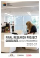 Final Research Project guidelines 2019-20 - 60 ECTS programmes