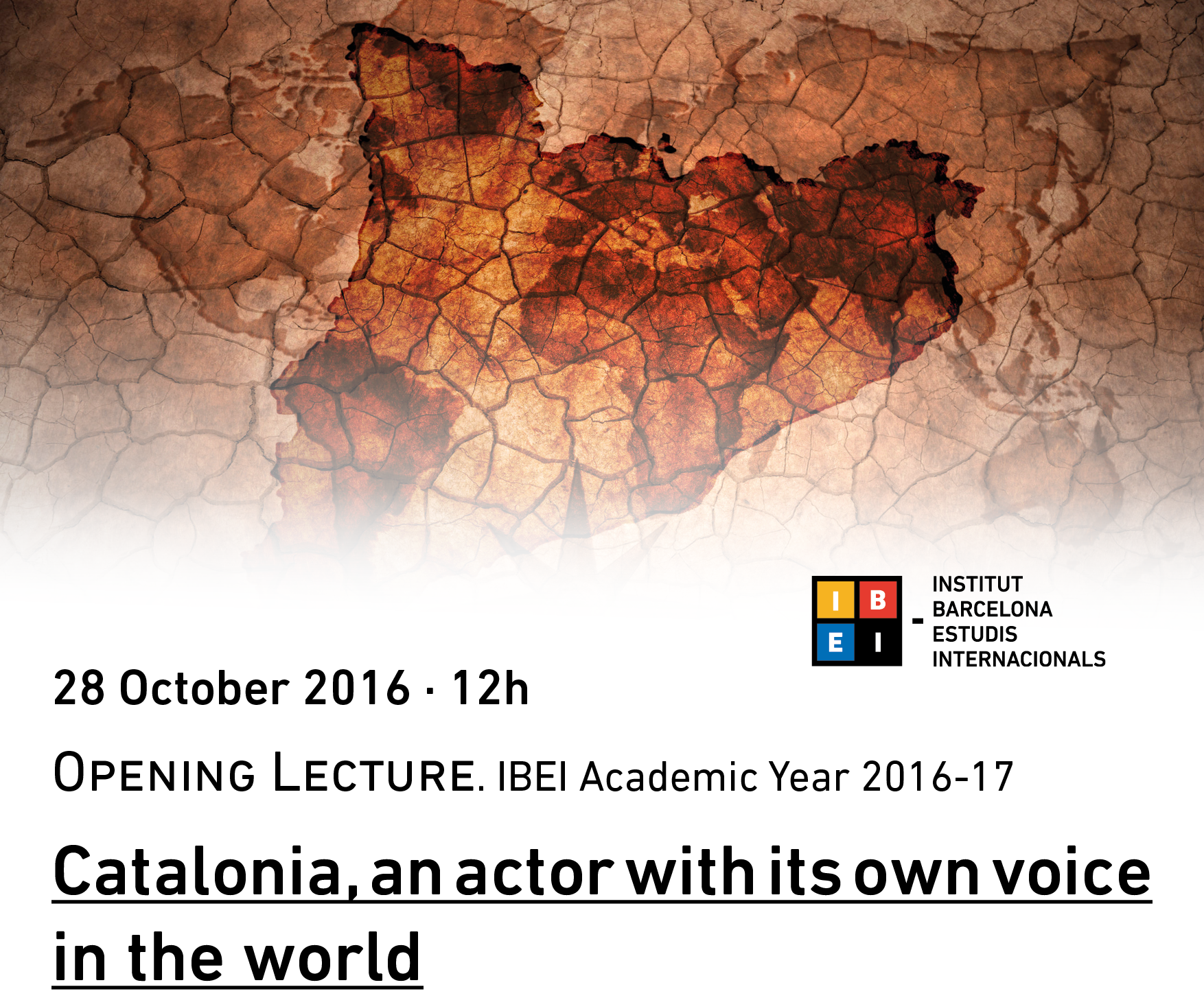 IBEI Opening Lecture 2016 by Raül Romeva