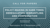 Call for Papers: Policy making in hard times. Workshop November 2017