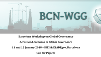 Call for Papers: Barcelona Workshop on Global Governance (January 2018)