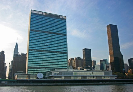 United Nations Headqurters in New York.