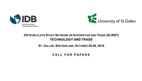 Call for Papers: XVI ELSNIT Annual Conference on Technology and Trade